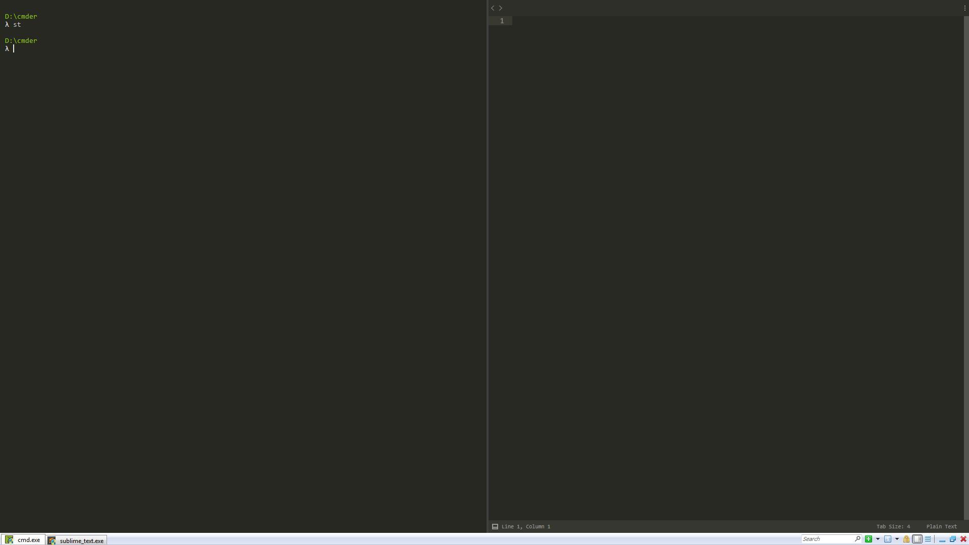 win端Cmder结合IDE/编辑器使用教程